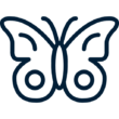 butterfly icon in #011e36